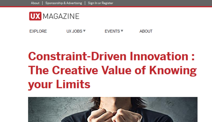 Constraint-Driven Innovation : The Creative Value of Knowing your Limits