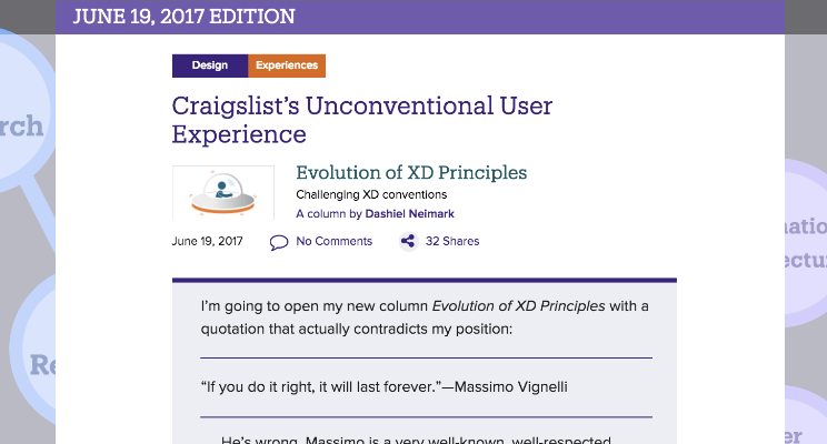 Craigslist's Unconventional User Experience