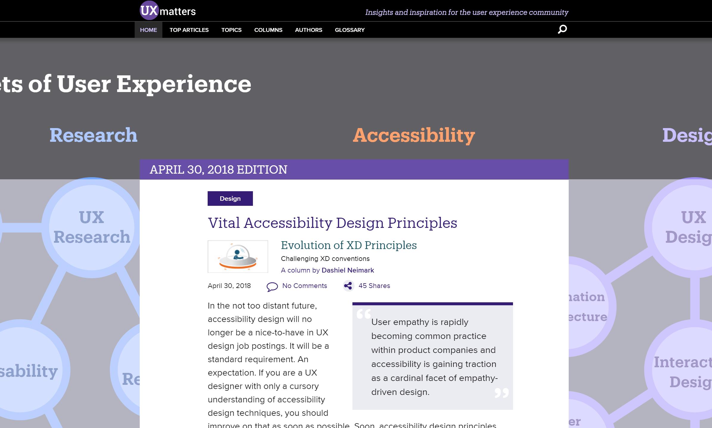 Vital Accessibility Design Principles